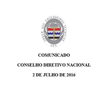 Comunicado CDN 2016-07-02