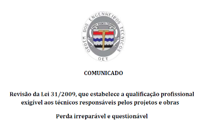 Comunicado-Revisao_Lei_31_2009