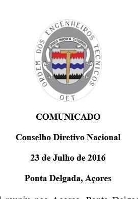 Comunicado CDN 2016-07-23