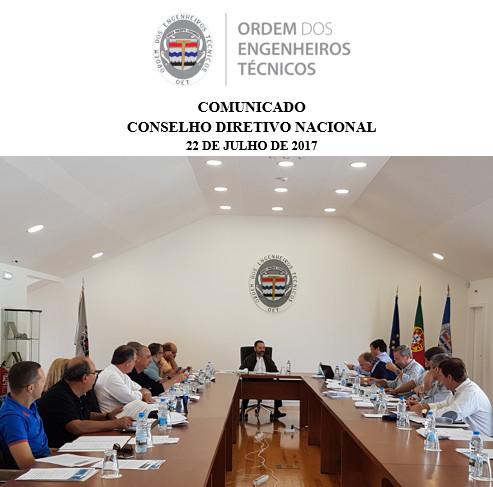 Comunicado CDN 2017/07/22