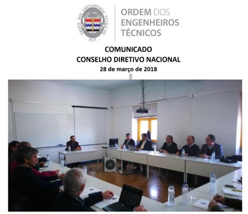 Comunicado CDN 2018/03/28