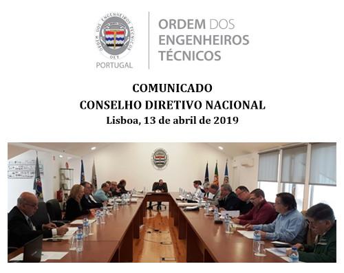 Comunicado CDN 2019-04-13