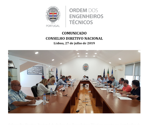 Comunicado CDN 2019/07/27