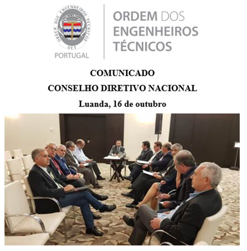 Comunicado CDN 2019 10 16 Luanda