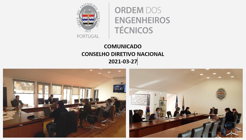 Comunicado CDN 2021-03-27