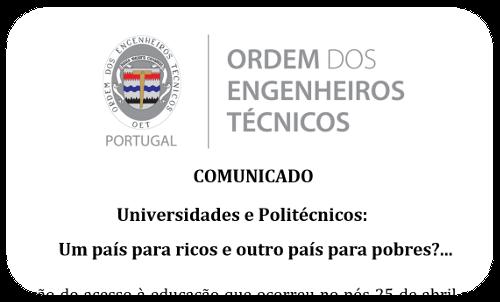 Comunicado Universidades e Politecnicos