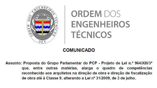 Comunicado PL PCP
