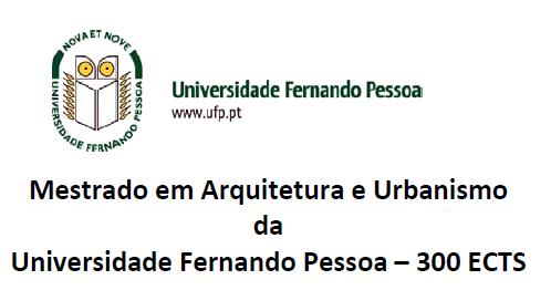 Mestrado em Arquitetura e Urbanismo